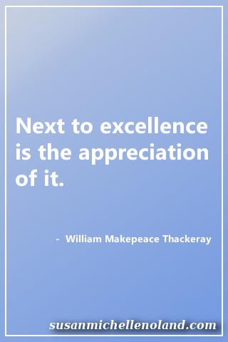 appreciation - thackeray
