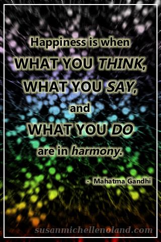 happiness - gandhi
